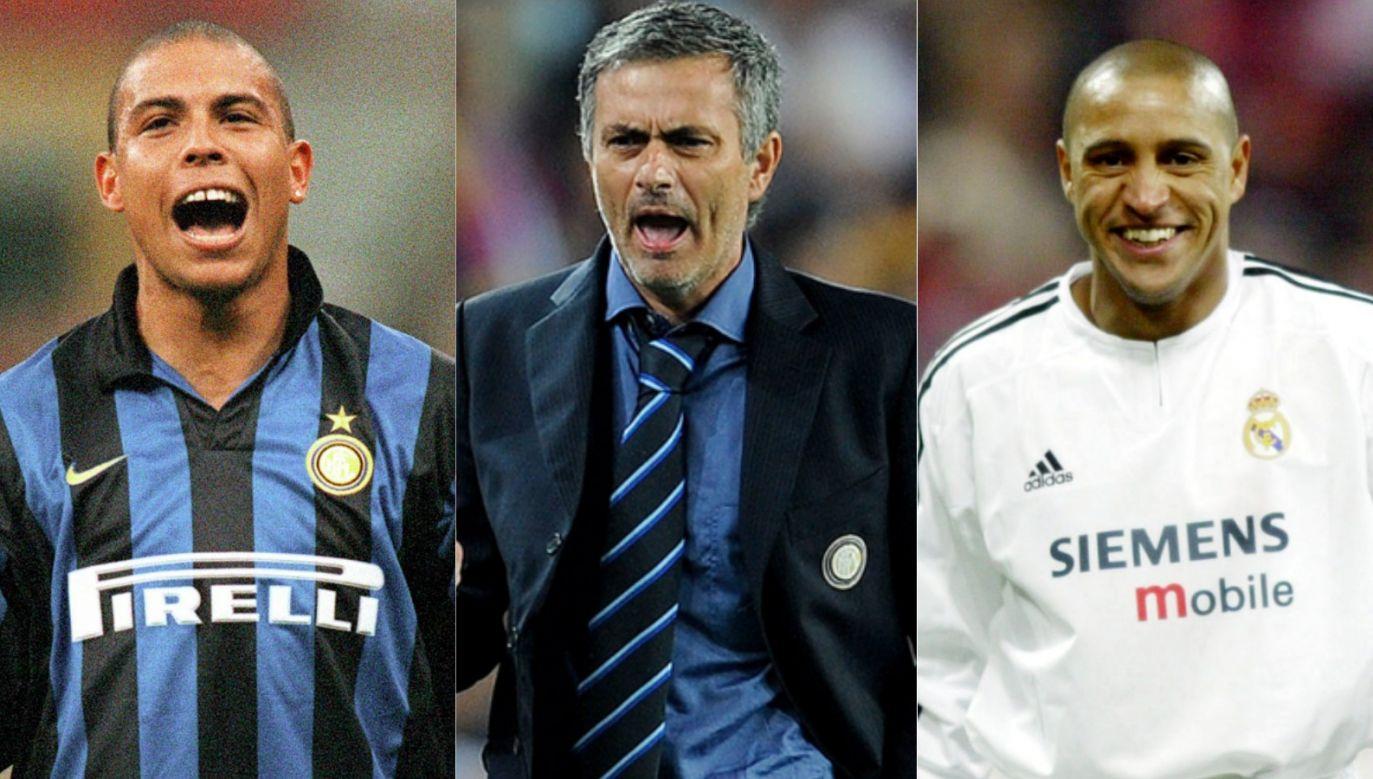 Ronaldo, Jose Mourinho i Roberto Carlos (fot. Getty Images)