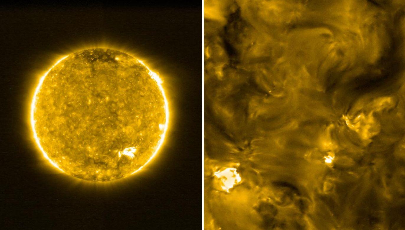 Dotychczas nie było fotografii gwiazdy uzyskanych z tak bliskiej odległości (fot. Solar Orbiter/EUI Team (ESA & NASA))