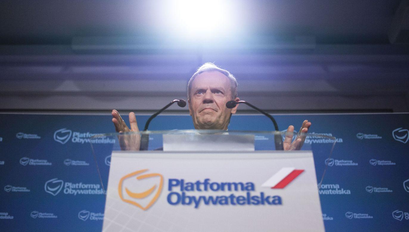 Donald Tusk (fot. Maciej Luczniewski/NurPhoto via Getty Images)