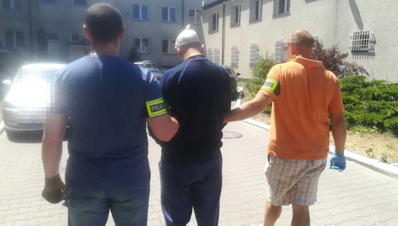 33-latek usłyszał już zarzuty, m.in. zabójstwa. Grozi mu kara nawet dożywotniego pozbawienia wolności (fot. kpplegionowo.policja.waw.pl)