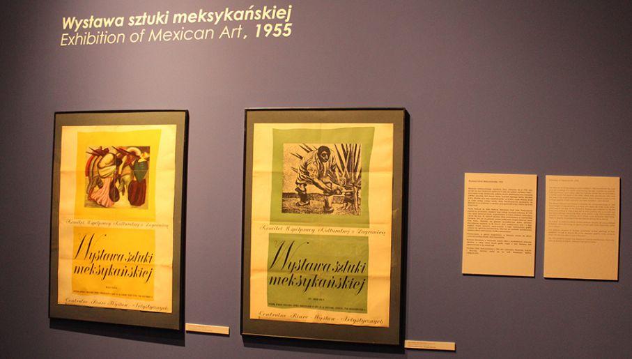 Prace kluczowych XX-wiecznych artystów Meksyku pochodzą z wystawy prezentowanej w Warszawie w 1955 roku (fot. tvp.info/Adam Cissowski)