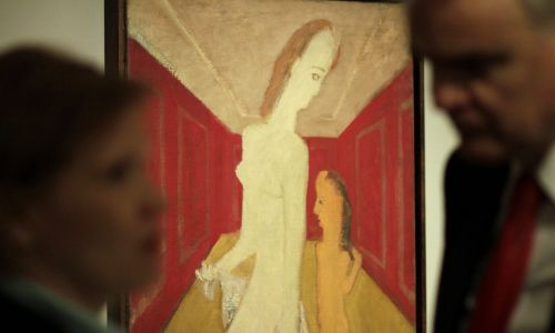 """Także w rodzinnym Dyneburgu (Daugavpils) w 2013 roku otwarto centrum sztuki Marka Rothko, gdzie można oglądać choćby dzieło """"Matka z dzieckiem"""". Fot. Valda Kalnina/EPA/PAP"""