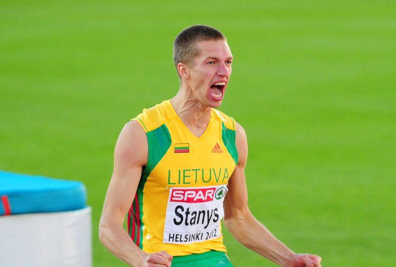 Sensacyjny srebrny medalista w skoku wzwyż Raivydas Stanys z Litwy (fot. Getty Images)