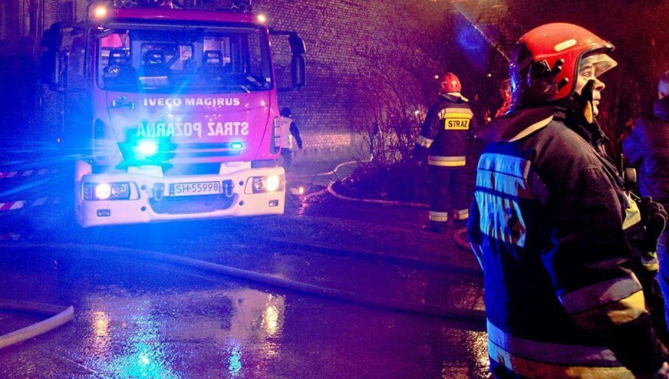 Na razie nie wiadomo, co było przyczyną pożaru (fot. arch.PAP/Andrzej Grygiel/zdjęcie ilustracyjne)
