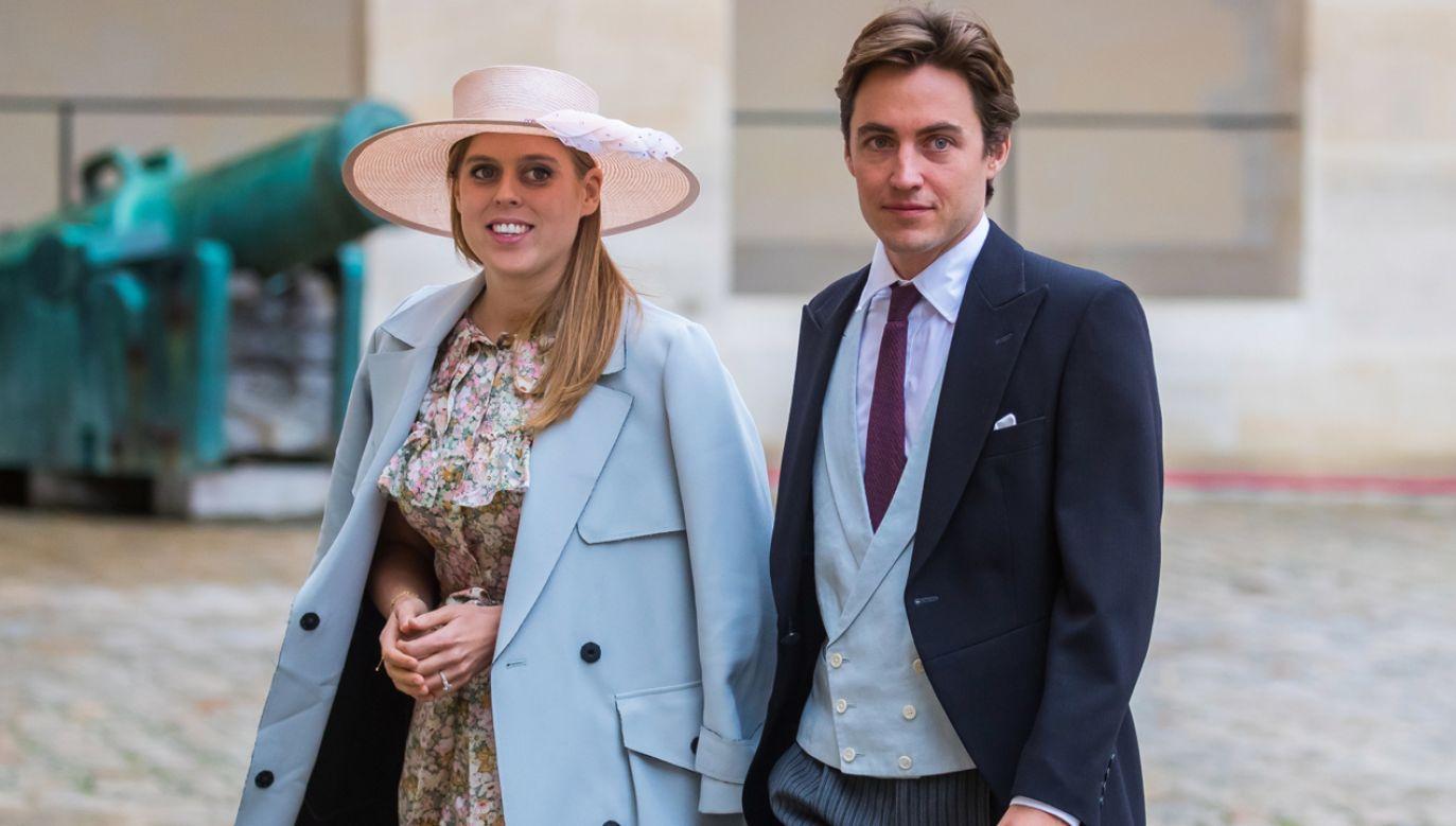 Ślub księżniczki Beatrycze z Eduardo Mapellim Mozzim odbędzie się 29 maja  (fot. PAP/EPA/CHRISTOPHE PETIT TESSON)