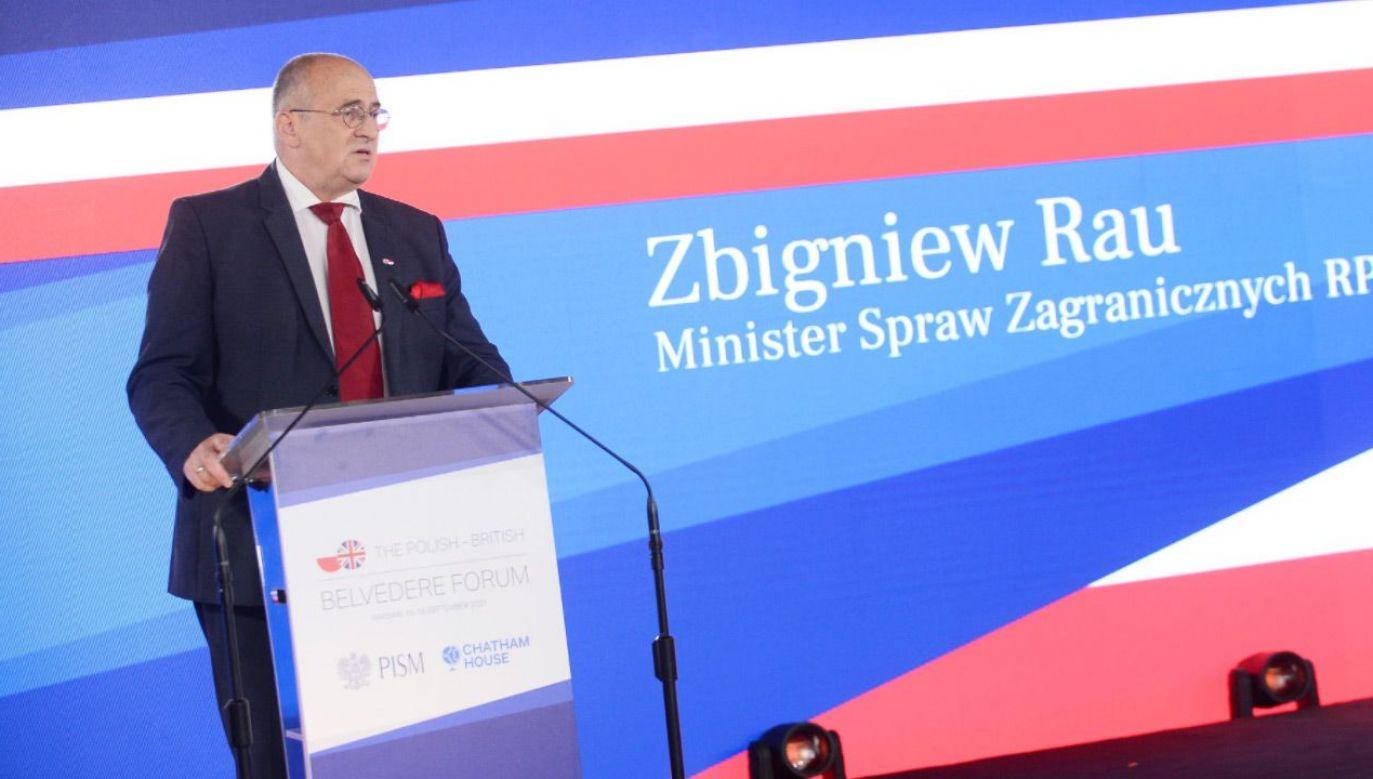 Zbigniew Rau, the Polish Foreign Minister. Photo: Twitter.com/Belvedere Forum