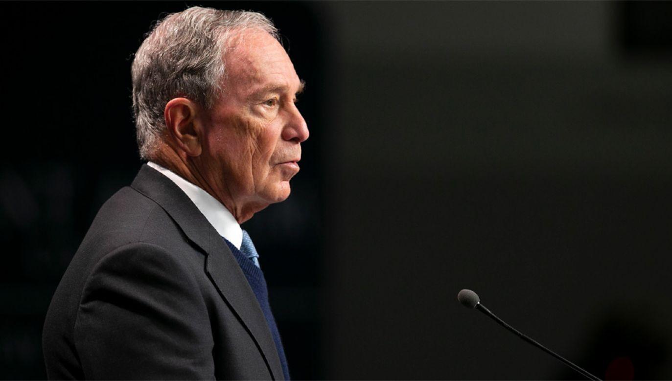 Michael Bloomberg, zamierza sfinansować swoją kampanię wyłącznie z własnych środków (fot. PAP/EPA/CJ GUNTHER)