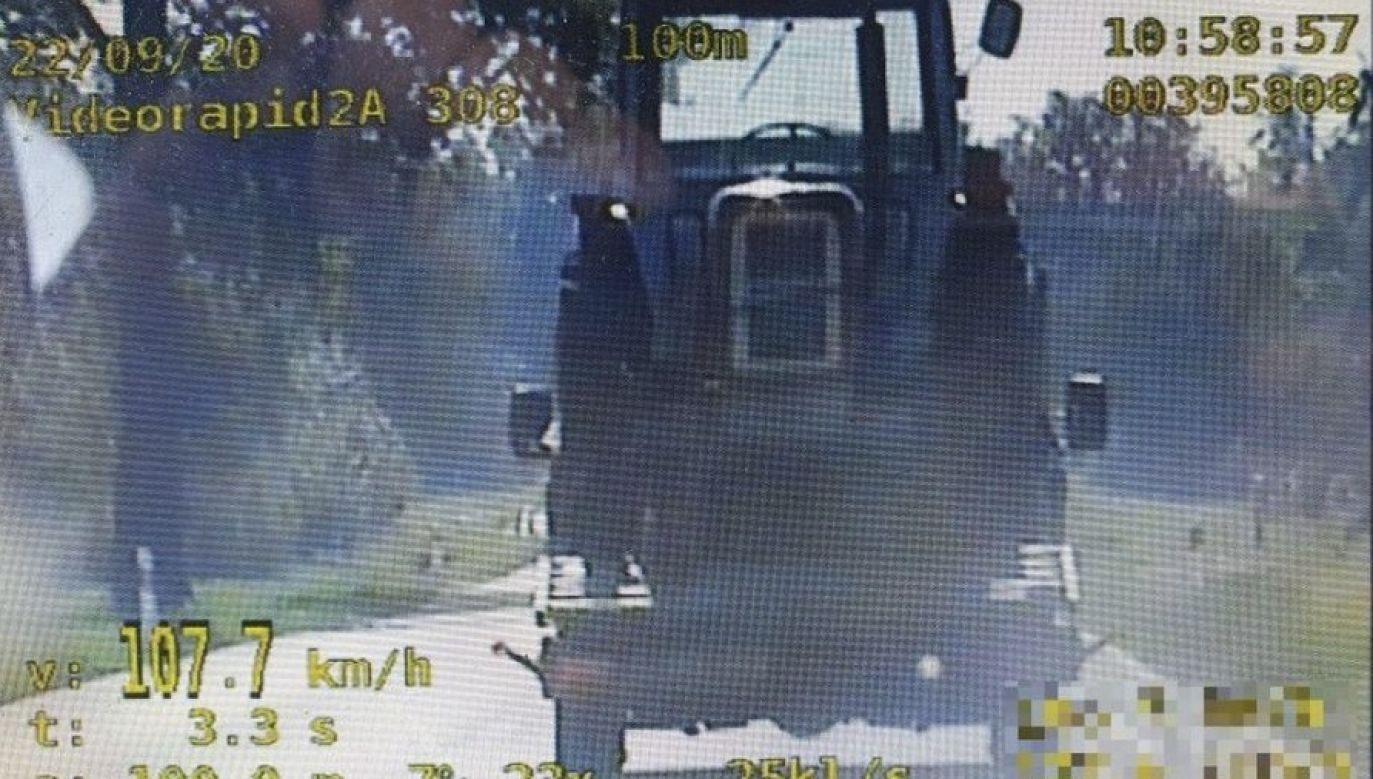 Kierowca stracił prawo jazdy (fot. KPP w Busku – Zdroju)