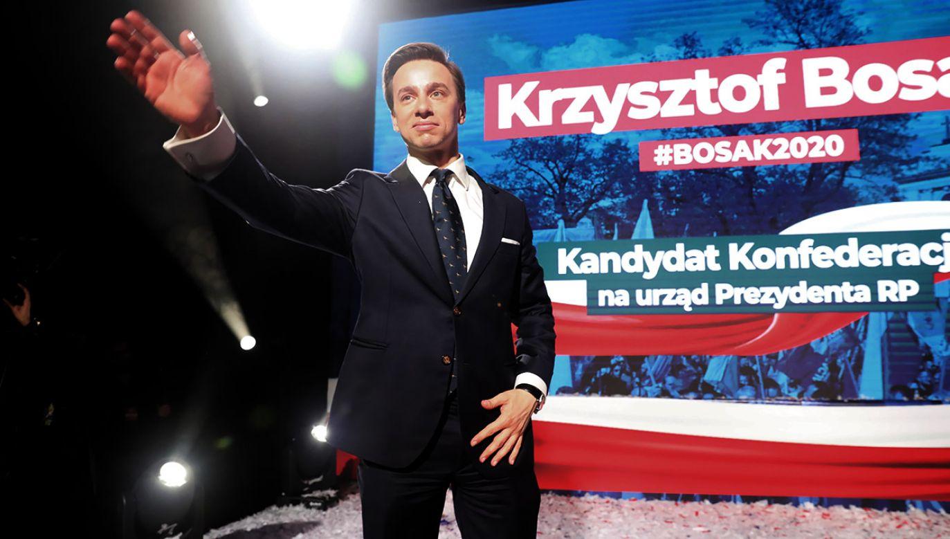 Kandydat Konfederacji na prezydenta o swoich zainteresowaniach (fot. PAP/Tomasz Gzell)