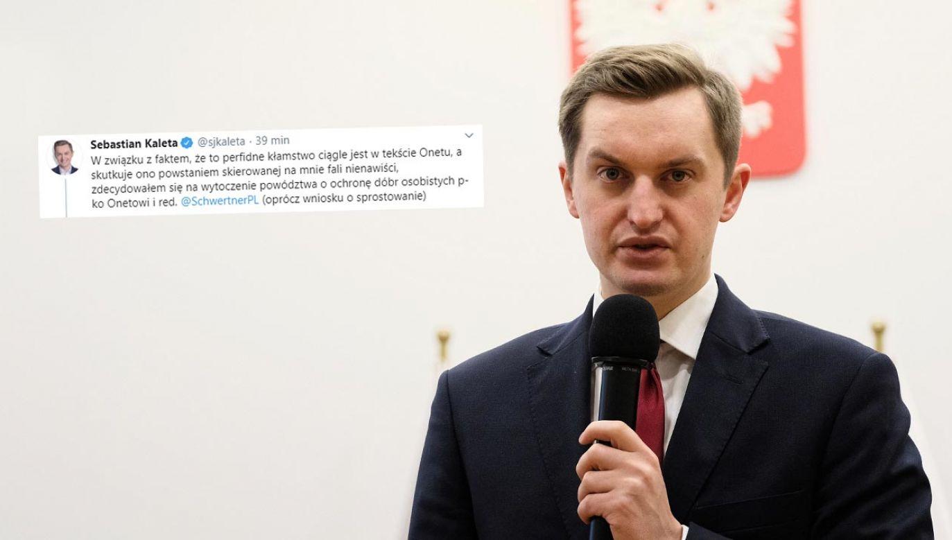 Sebastian Kaleta postanowił skierować sprawę do sądu (fot. PAP/Mateusz Marek)