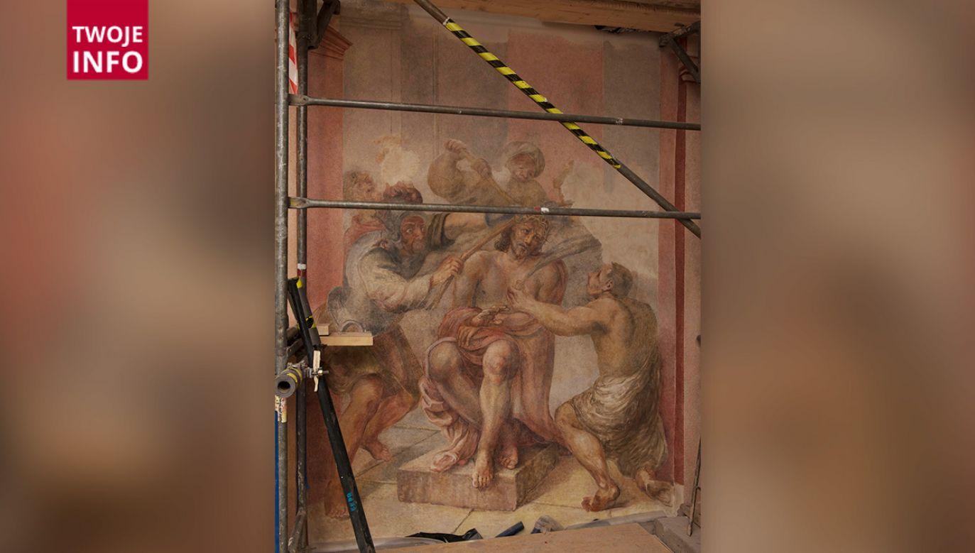 """Malowidła stanowiły wystrój kaplicy Świętych Schodów, która w historii spełniała także funkcję """"kaplicy pogrzebowej"""" dla szanowanych obywateli Krakowa (fot. Twoje Info)"""