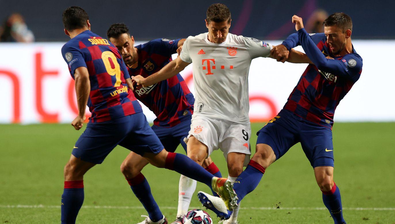 Robert Lewandowski walnie przyczynił się do wysokiej wygranej Bayernu z Barceloną (fot. Getty Images)