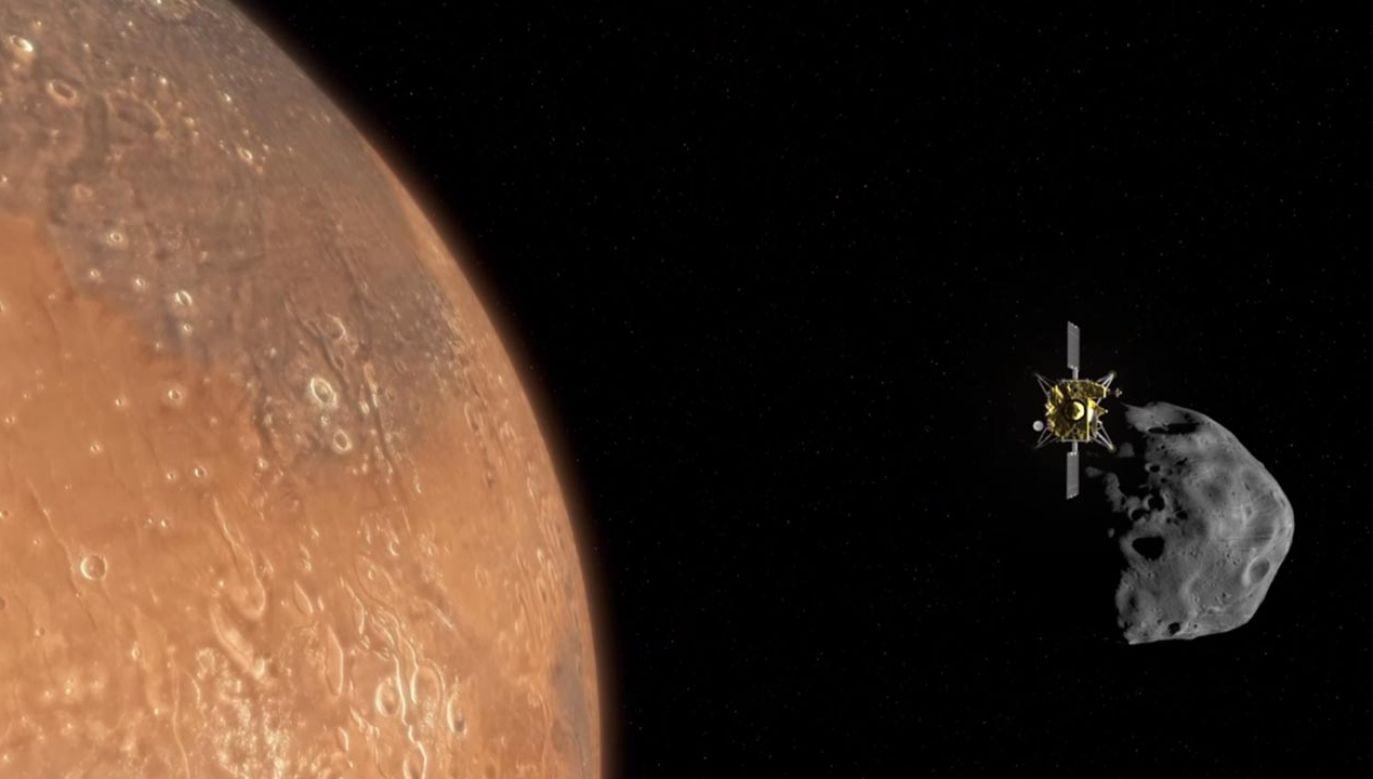 Jedna z kamer na pokładzie statku będzie fotografowała marsjański system w rozdzielczości 8K, a druga będzie rejestrować filmy w technologii 4 (fot. YouTube/JAXA)