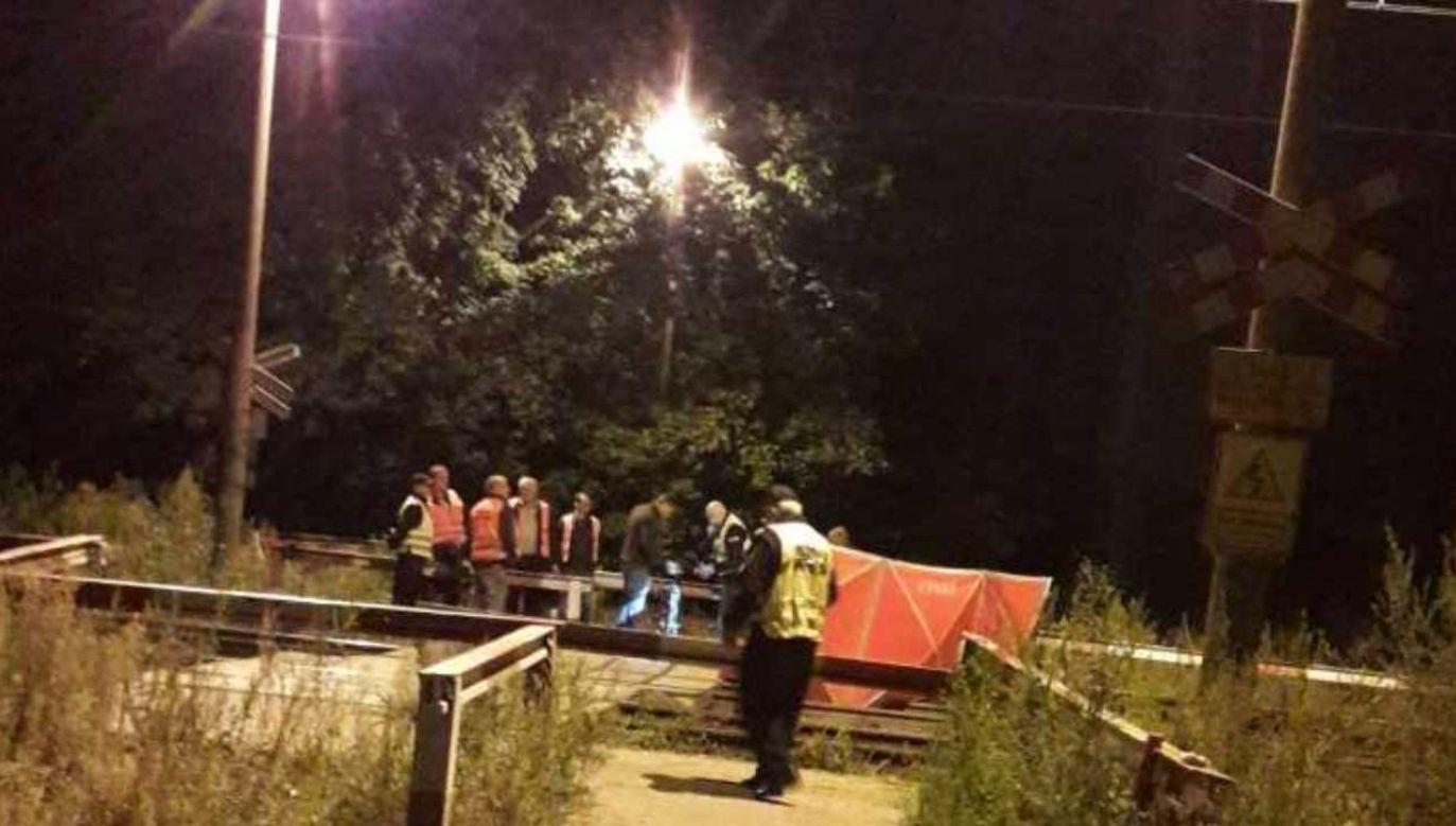Pociąg uderzył w rowerzystę w Gliwicach (fot. Twoje Info)