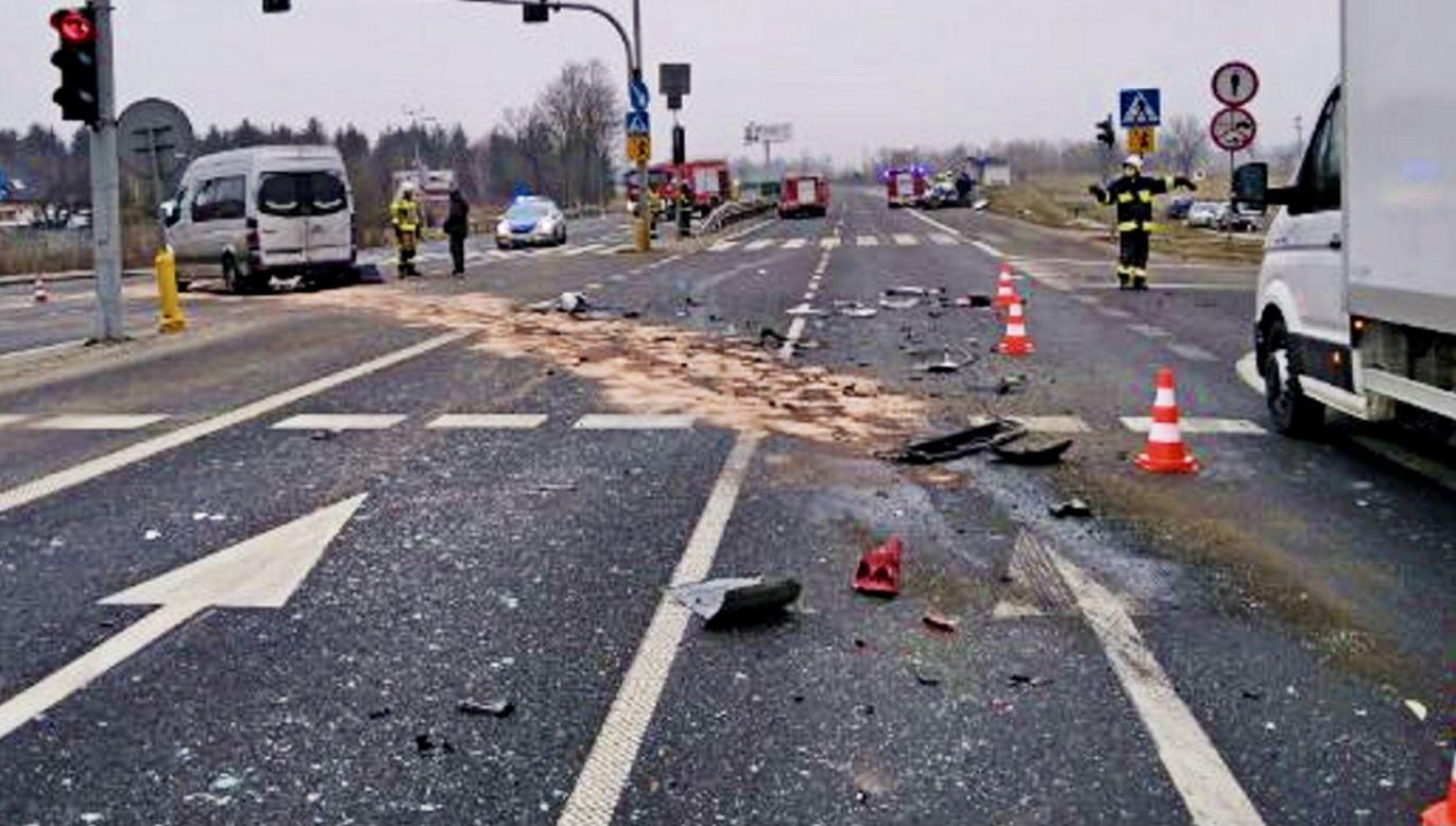 Trzy osoby zostały ranne (fot. policja.pl, zdjęcie ilustracyjne)