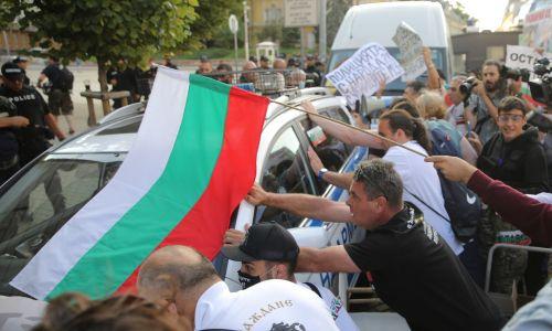 Antyrządowe wystąpienia w Sofii. Fot. REUTERS/Stoyan Nenov