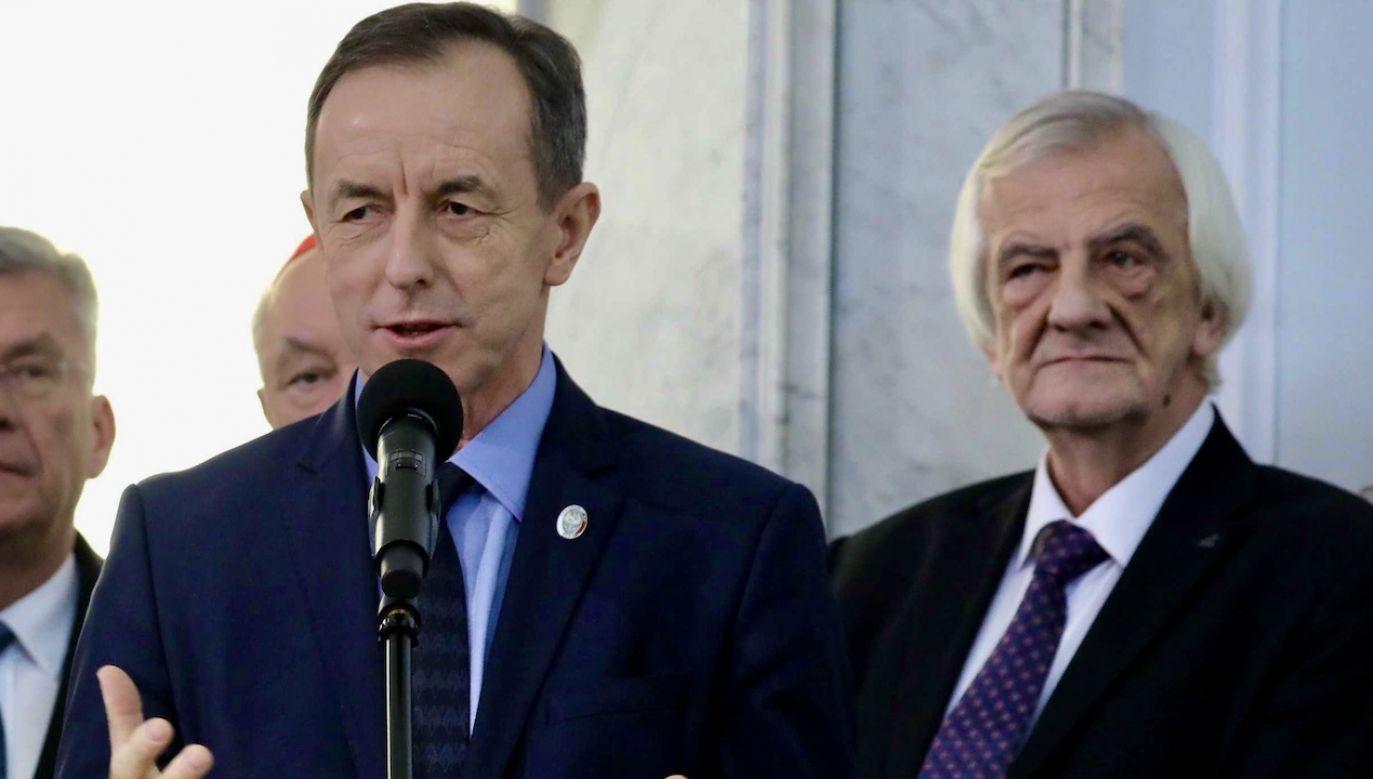 Wicemarszałek Ryszard Terlecki uważa, że stanowisko opozycji w tej sprawie jest sprzeczne z polską racją stanu (fot. arch.PAP/Tomasz Gzell)