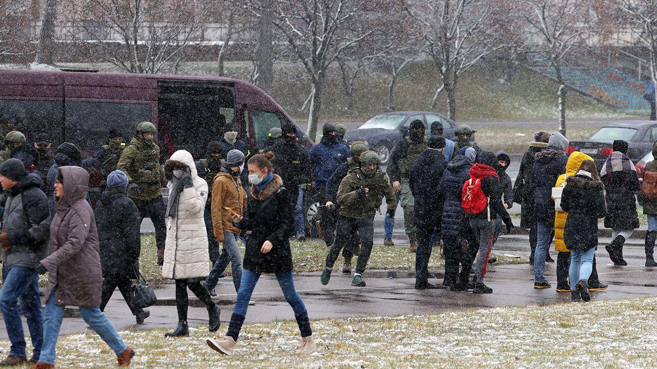 Protesty na Białorusi trwają od czasu wyborów prezydenckich (fot. Stringer/TASS via Getty Images)