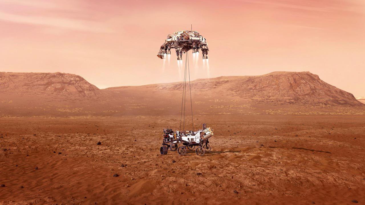 Animacja NASA z lądowania łazika Perseverance na Marsie (fot. NASA/JPL-Caltech/Handout via REUTERS )