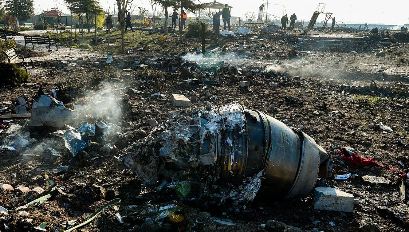 Samolot linii Ukraine International Airlines, wykonujący lot z Teheranu do Kijowa, został 8 stycznia zestrzelony krótko po starcie z lotniska w irańskiej stolicy (fot. Ali Mohammadi/Bloomberg via Getty Images)