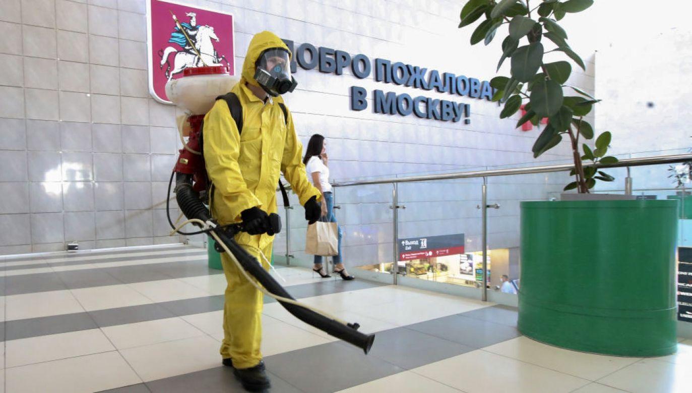 Rosja nie radzi sobie ze zwalczaniem pandemii (fot. S.Karpukhin\TASS\Getty Images)
