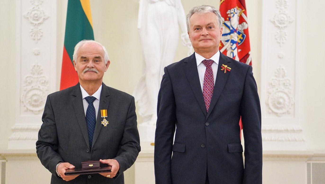 Przyjemnie, że moja działalność została doceniona – powiedział wybitny muzyk po ceremonii  (fot.  Robertas Dačkus / Kancelaria Prezydenta Republiki Litewskiej)