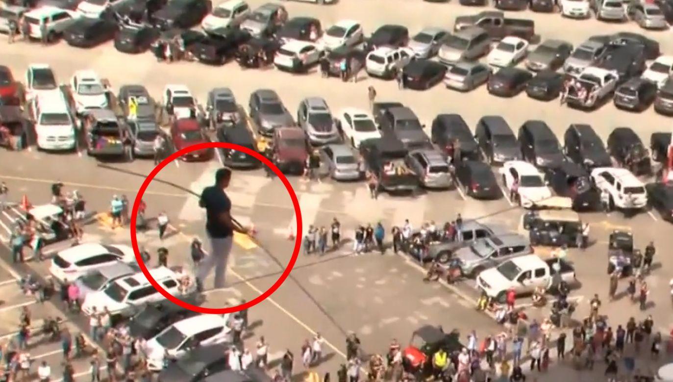 31-letni Blake Wallenda jest linoskoczkiem (fot. TVP info)