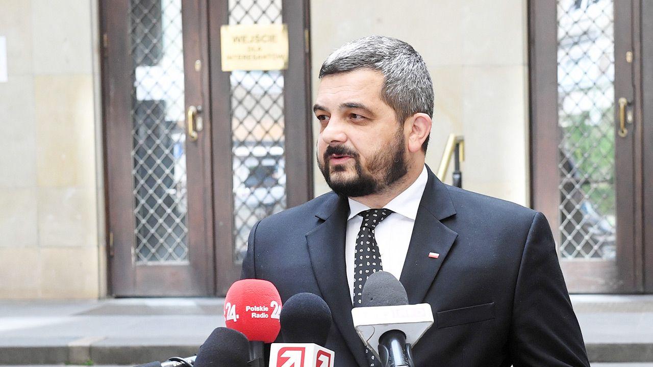 Szef Komitetu Wykonawczego PiS Krzysztof Sobolewski (fot. PAP/Radek Pietruszka)
