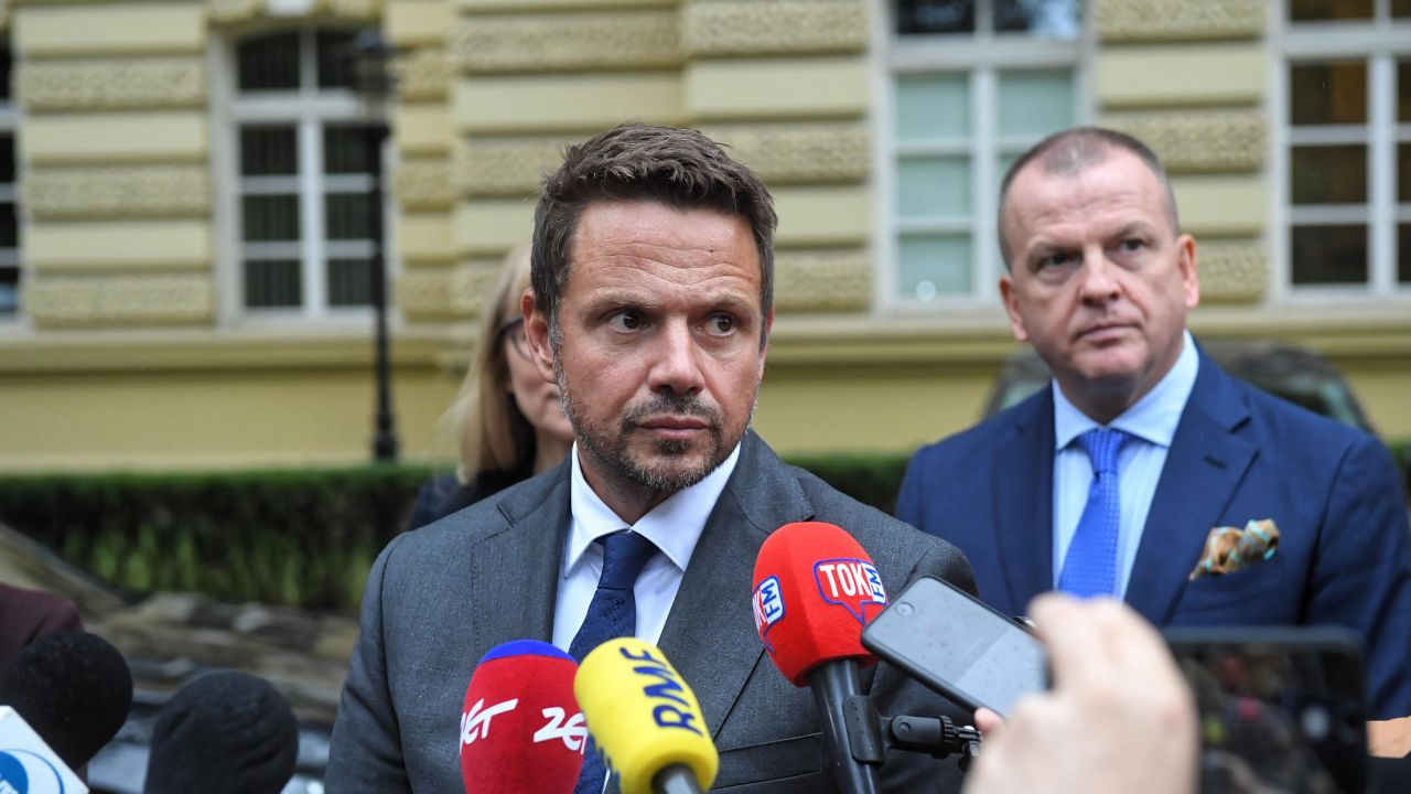 Prezydent Warszawy i wiceszef PO Rafał Trzaskowski (PAP/Radek Pietruszka)