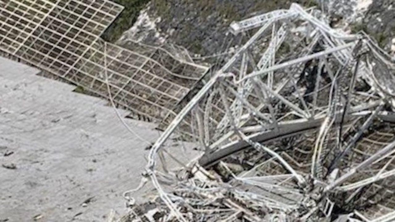 Radioteleskop Arecibo funkcjonował od 57 lat (fot. UCF)