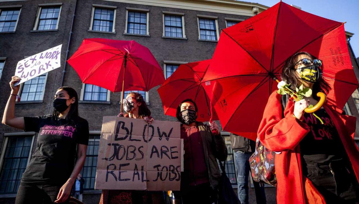 Prostytutki skarżyły się na dyskryminację (fot. PAP/EPA/SEM VAN DER WAL)