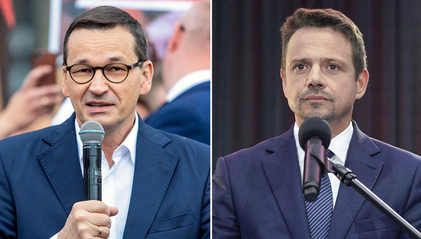 Premier przypomniał, że Trzaskowski jest niechętny wielkim polskim projektom (fot. PAP/Tytus Żmijewski, Mateusz Marek)