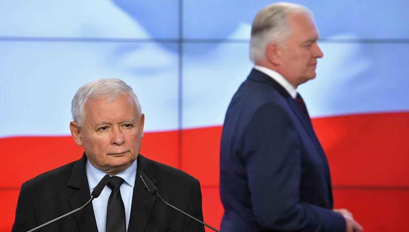 Prezes PiS o Jarosławie Gowinie (fot. PAP/Radek Pietruszka)
