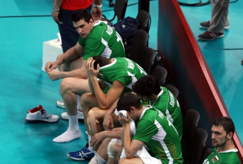 Bułgarzy byli załamani - mieli szansę na pierwszy od lat osiemdziesiątych medal IO (fot. PAP/EPA)