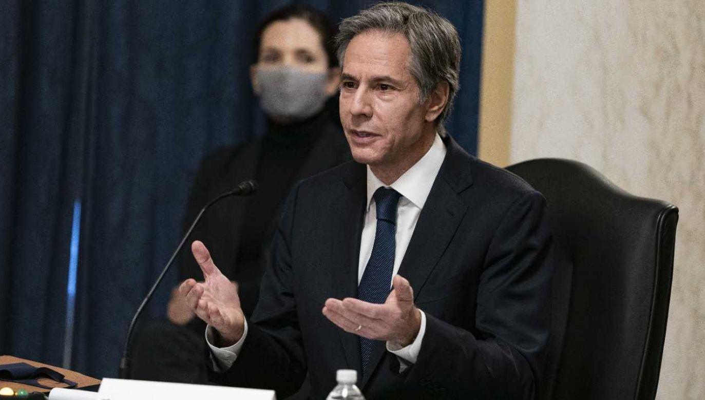 Anthony Blinken był w latach 2015-2017 zastępcą sekretarza stanu (fot. PAP/EPA/Alex Edelman / POOL)
