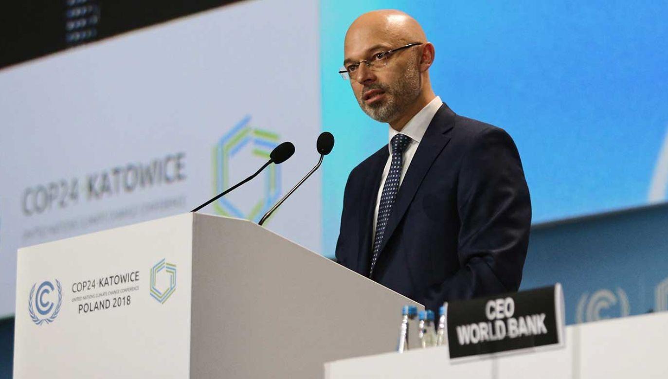 Wiceminister środowiska Michała Kurtyka (fot. PAP/Andrzej Grygiel)