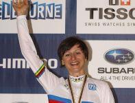 Złoty medal w scratchu zdobyła Katarzyna Pawłowska (fot. Getty Images)