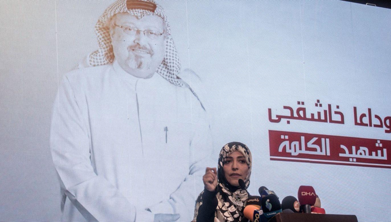 Laureatka pokojowej Nagrody Nobla Tawakkul Karman w trakcie ceremoni poświęconej zamordowanemu (fot. Chris McGrath/Getty Images)