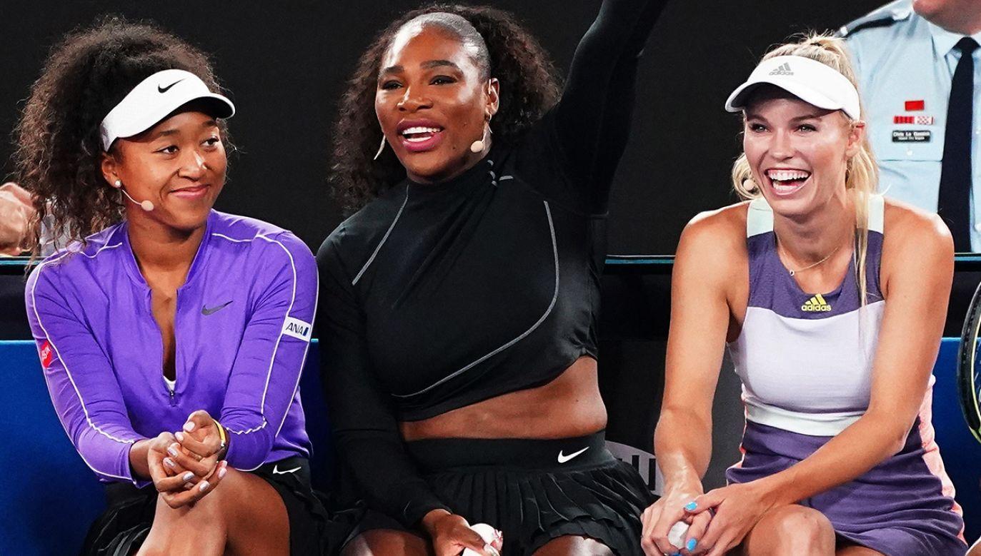 Naomi Osaka, Serena Williams i Caroline Wozniacki zbierały fundusze na walkę z pożarami w Australii  (fot. PAP/EPA/SCOTT BARBOUR)