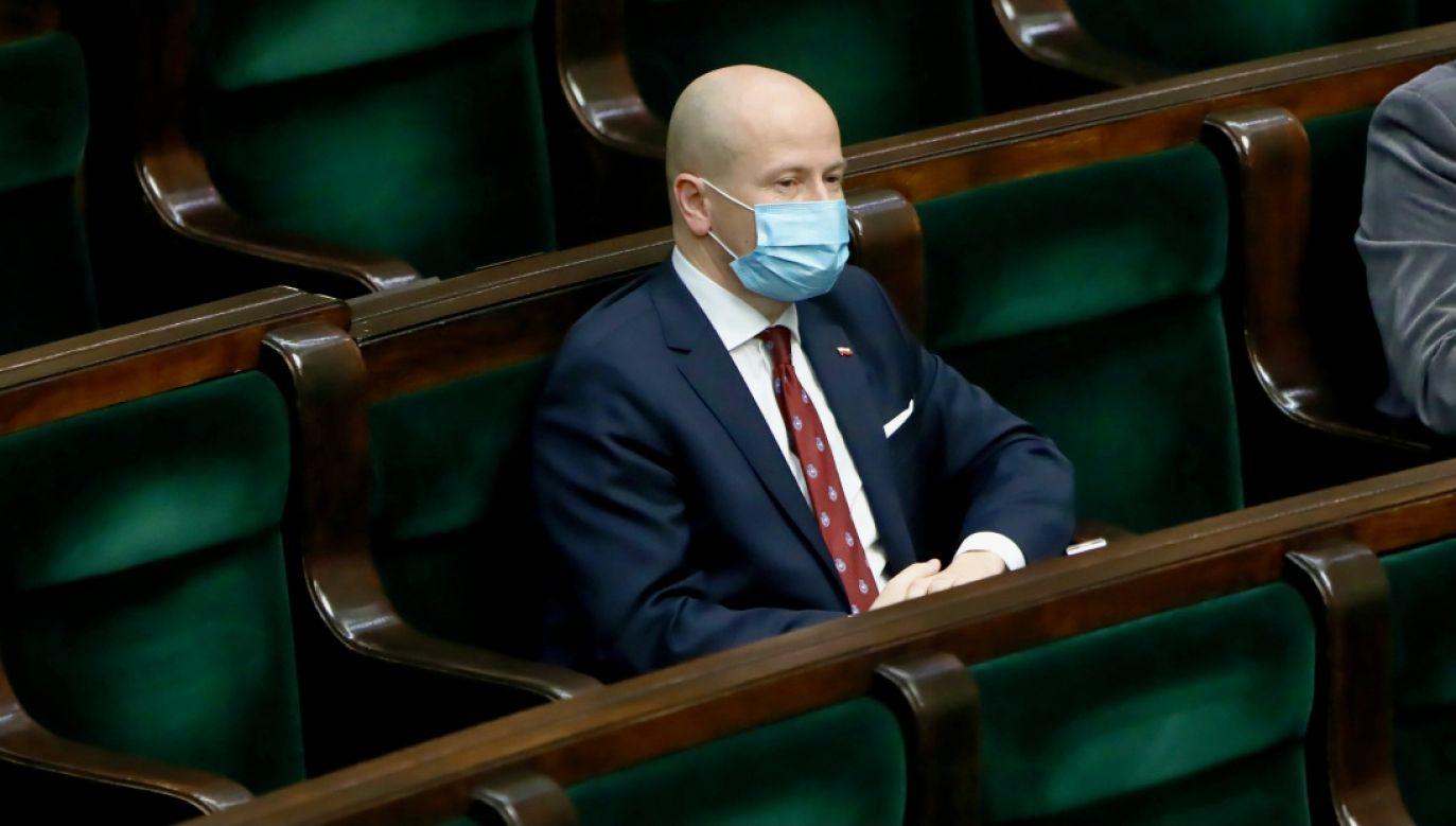 Kandydat PiS na RPO poseł PiS Bartłomiej Wróblewski  (fot. PAP/W.Olkuśnik)
