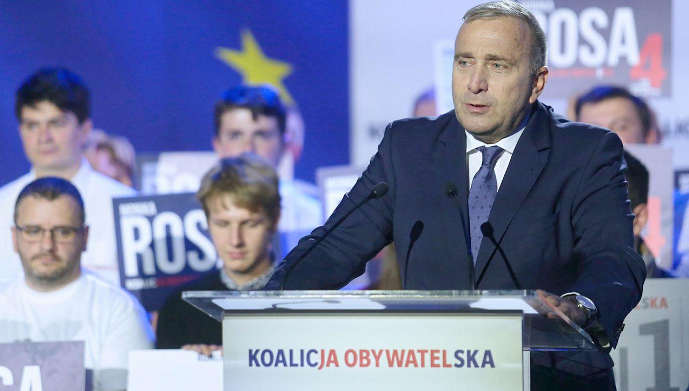 W TVP Info powyborcze scenariusze dotyczące przyszłości lidera PO (fot.  PAP/Andrzej Grygiel)