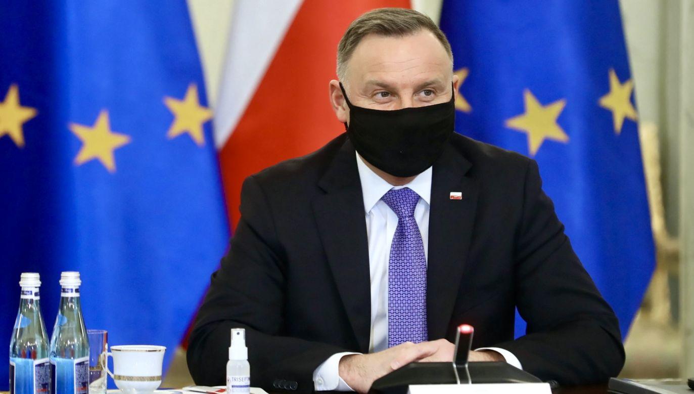 Andrzej Duda bierze pod uwagę zmianę konstytucji (fot. PAP/Rafał Guz)