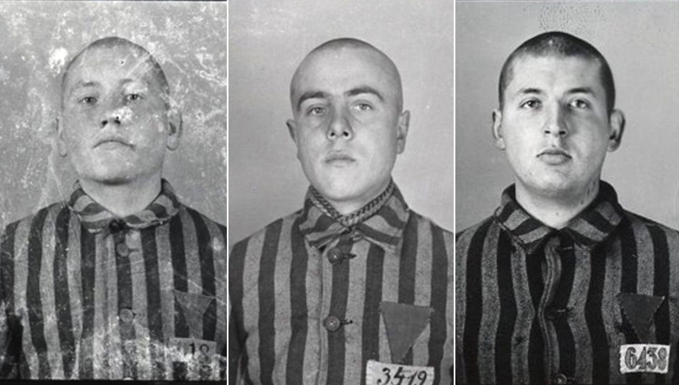 Wizerunki trzech spośród czterech uciekinierów (fot. TT/Auschwitz Memorial)