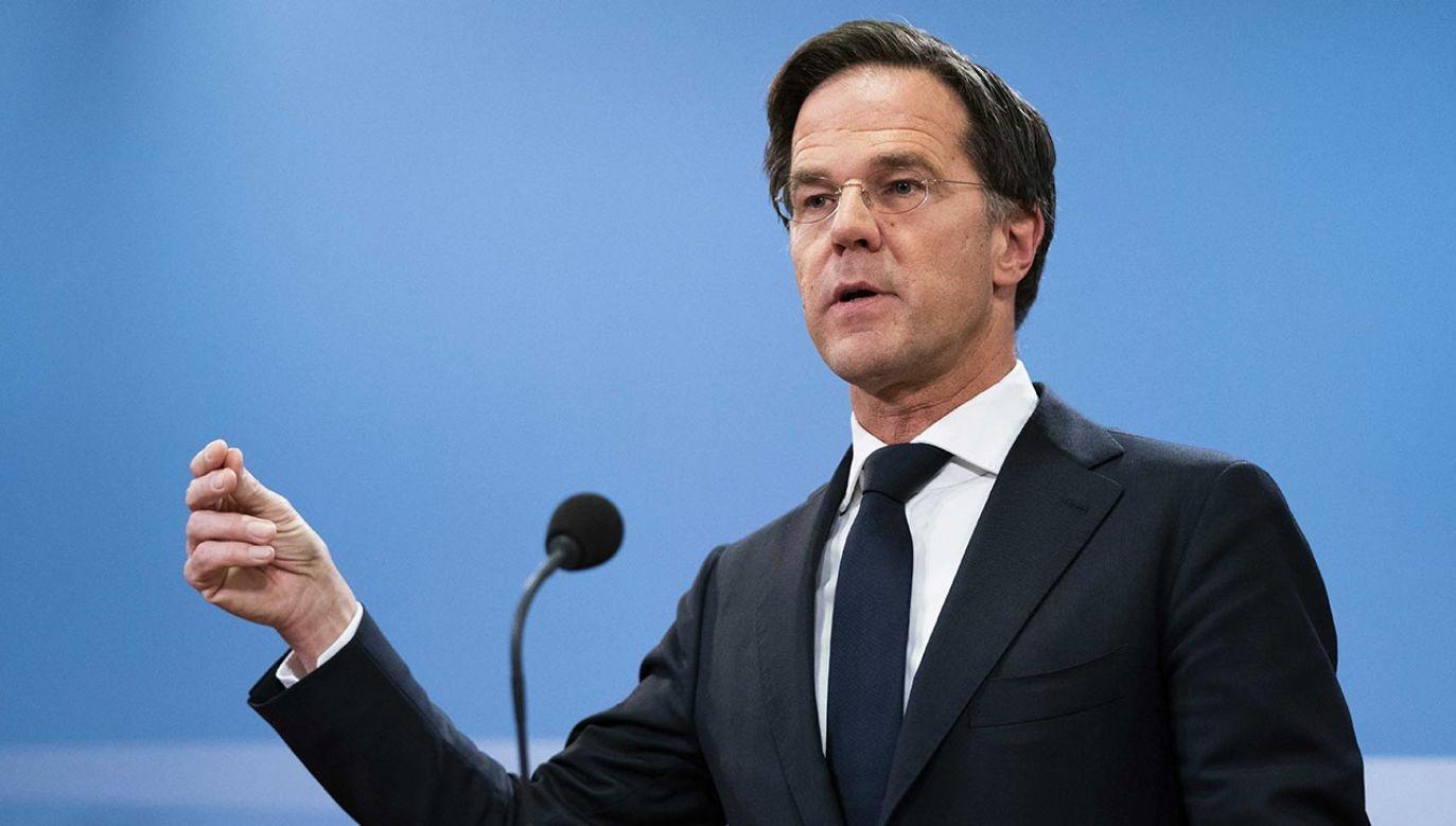 Premier Rutte przyznał, że ok. 10 tys. rodzin doprowadzono do finansowej ruiny (fot. PAP/EPA/BART MAAT)