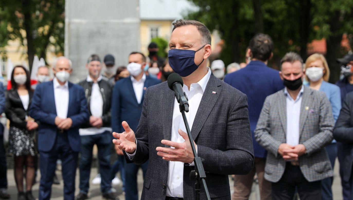 Prezydent RP Andrzej Duda wskazał nową I Prezes SN. (fot. PAP/Jakub Szymczuk/KPRP)