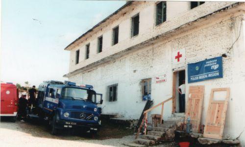 Polska misja zorganizowała szpital jednego dnia oraz ambulatoria internistyczne, chirurgiczne i pediatryczne.  Fot. zbiór prywatny Krzysztofa Grucy