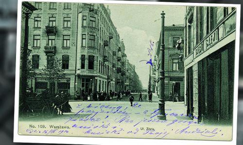 Dom narożny Złota 13/Marszałkowska 113, ok. 1909 roku (fot. pocztówka z prywatnej kolekcji)