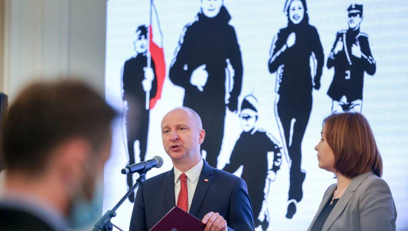 List prezydenta Andrzeja Dudy odczytał prezydencki minister Wojciech Kolarski (fot. KPRP/Grzegorz Jakubowski)