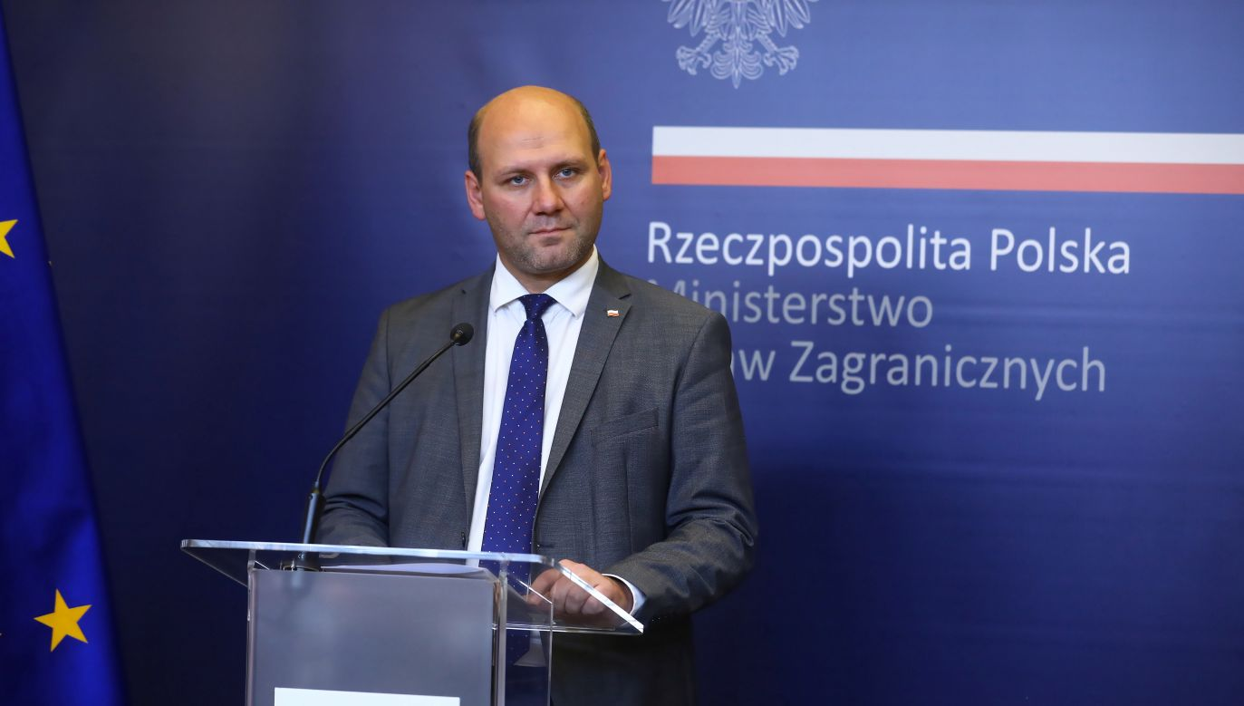 Wiceminister spraw zagranicznych Szymon Szynkowski vel Sęk (fot. PAP/Rafał Guz)