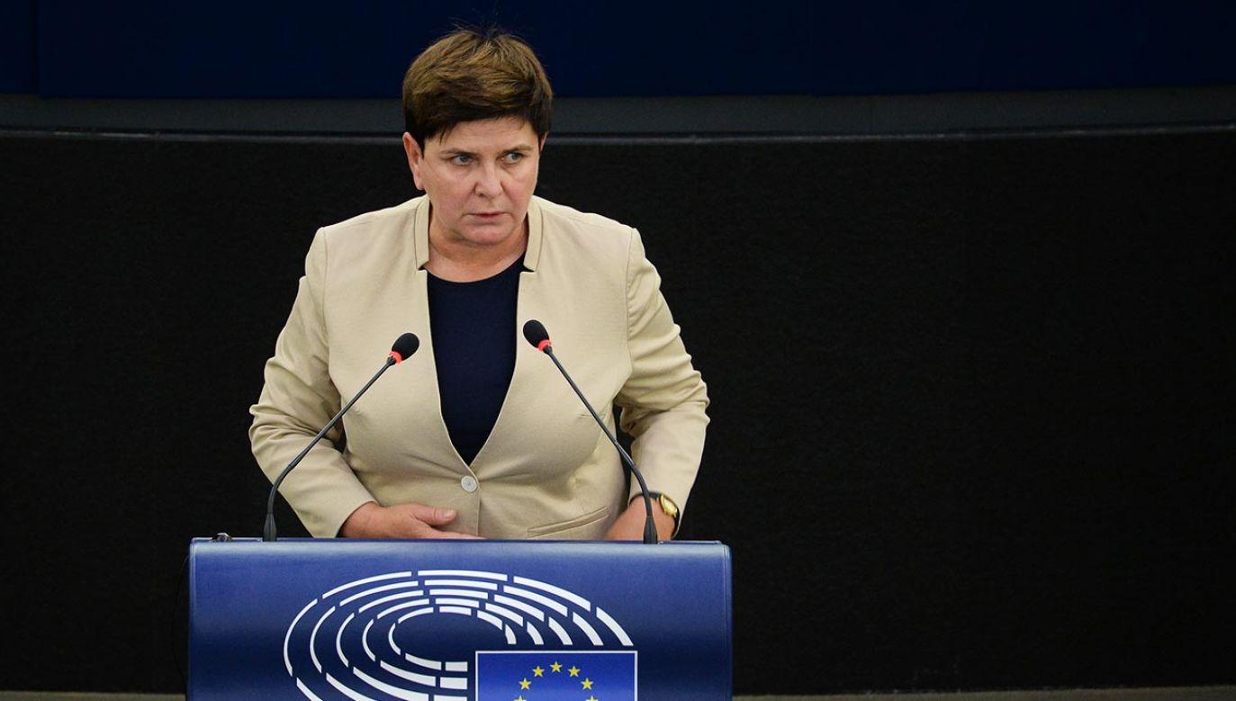 Beata Szydło nawiązała do decyzji KE ws. Polski (fot. Forum/Aleksiej Witwicki)